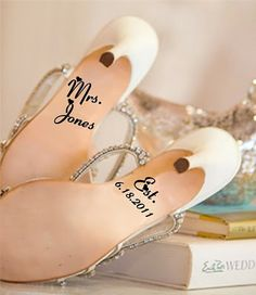 What a great way to personalize your wedding shoes