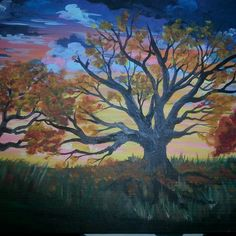 Fall tree painting by loreleijoanna