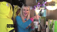 The American girl group, G.R.L., shows off their tour bus while on their recent U.S. tour, in their onesies!