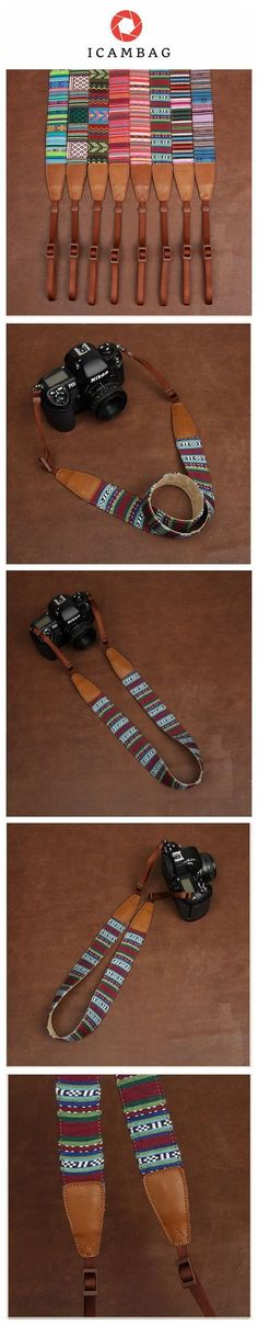 Blue Strap Sony Handmade Leather Camera Strap Bohemia Style Holiday-7226
