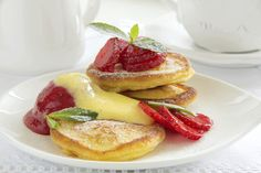 Mango-Topped Buckwheat Pancakes: Let the mango protect your skin from the inside and out with this delicious breakfast.