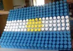 Resultado de imagen para dia de la bandera argentina decoracion Origami, Cube, Recycling, Blanket, Toys, Google, Future, Ideas, Mars