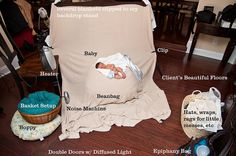 newborn set up