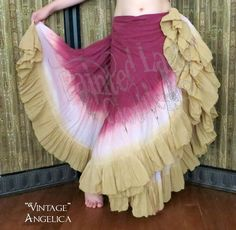 """""""Vintage"""" Angelica 25 Yard Voila Skirt   Our Angelica skirts are any color/s and a white feature added either on the upper skirt, ruffle or like shown here between the two colors.   You can order yours here: http://www.paintedladyemporium.com/Shop-Here.html"""