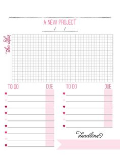 Making Goals Worksheet A New Project by rubyandsass on Etsy...Get organized with this downloadble PDF- Only $5 and comes in 4 colors!