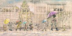 Hoy llueve. Uno de mis lugares favoritos es el espacio que hay bajo un paraguas. Me produce una sensación de recogimiento, de soledad deseada y amable, de protección que me invita a caminar sin rum…