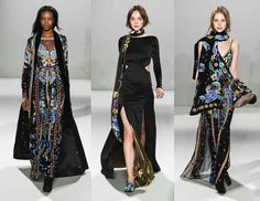 Temperley London fall/winter 2015 collection. The color choice and textile provides ominous and magical style.