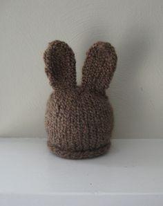 Chunky Chocolate Brown Bunny Hat