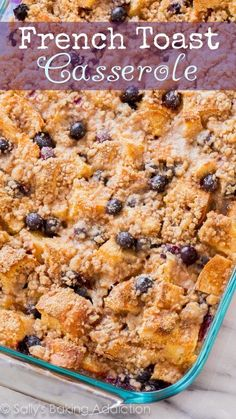 This unbelievable blueberry french toast casserole will blow your tastebuds away! It's so simple to make and the whole family loves it.