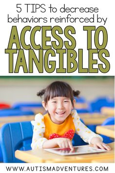 These 5 tips to decrease behaviors reinforced by tangibles can help to create a plan. A plan to decrease behaviors related to tangible access. By understanding the functions of behaviors you can reduce behavior. Autism Activities, Sorting Activities, Autism Resources, Classroom Resources, Behavior Management, Classroom Management, Life Skills Classroom, Classroom Setup, Autism Classroom