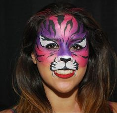 Tiger Face Painting by Okidoki Face Painting - www.okidokifacepainting.com