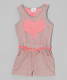 http://www.zulily.com/invite/vhanson979 Pink Stripe Lace Heart Romper - Girls #zulily #zulilyfinds