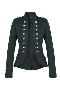 military inspired blazer jacket <3