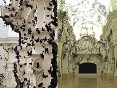 Black Cloud, 2007  ::   by Carlos Amorales, Mexican    :: Black paper moths