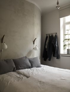 Bedroom of Apartment Vasatan in Stockholm by Imberg Arkitekter
