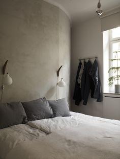 Bedroom of Apartment Vasatan in Stockholm by Imberg Arkitekter