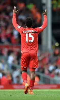 Great to see this celebration once again! #Sturridge #LFC