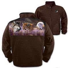 Mens Fleece Jacket: Wilderness Spirit