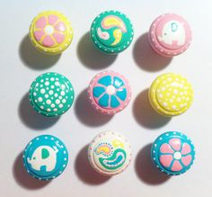 Drawer Knobs  Flowers Polka Dots Paisley and by TheLittleNursery, $6.00