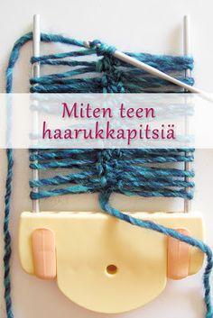 Miten teen haarukkapitsiä (hairpin crochet). Perustekniikan ohje, kuvasarja työvaiheista