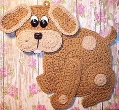 Crocheted Dog / Puppy made by Linda K Weddle