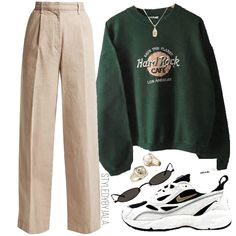 outfits for school winter \ outfits ` outfits for school ` outfits with leggings ` outfits with air force ones ` outfits casuales ` outfits with black jeans ` outfits with sweatpants ` outfits for school winter Retro Outfits, Trendy Outfits, Vintage Outfits, Cool Outfits, Swag Outfits, Vintage Dress, Look Fashion, New Fashion, Korean Fashion