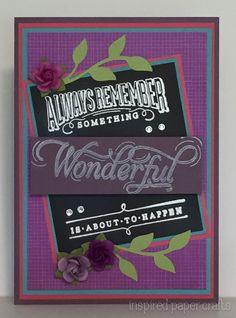 Something Wonderful www.inspiredpapercrafts.com
