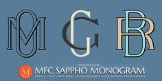 MFC Sappho Monogram™ - Desktop font « MyFonts