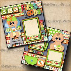 Creating A Family Recipe Scrapbook – Scrapbooking Fun! Large Scrapbook, Paper Bag Scrapbook, Baby Scrapbook Pages, Baby Boy Scrapbook, Birthday Scrapbook, Scrapbook Supplies, Scrapbook Cards, Senior Year Scrapbook, Friend Scrapbook