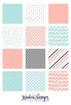 Mint and Peach Pattern Design and digital papers Printable Stickers, Printable Paper, Cute Stickers, Free Printable Quotes, Printable Scrapbook Paper, Journal Stickers, Planner Stickers, Digital Paper Free, Digital Papers