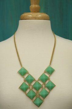 Ten Stone Mint Necklace