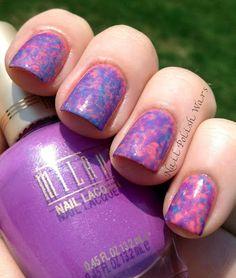 Saran Splotches  #nails #nailart