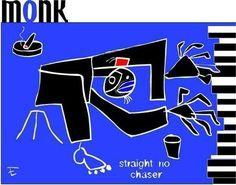 Thelonious Monk Rare Jazz Piano ArtBluenote Art Signed by edavy63, $8.99