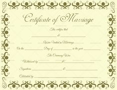 Free printable marriage certificate template royal wedding blank marriage certificate format in english yadclub Choice Image