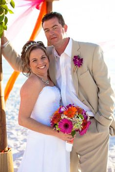 Florida Beachside Wedding with Sunny Pinks and Oranges