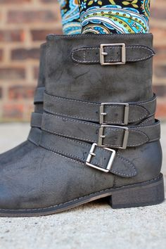 Bootie with Buckles Clayton-11