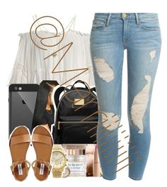 """Im loving shopping"" by marriiiiiiiii ❤ liked on Polyvore featuring Sans Souci, LifeProof, MICHAEL Michael Kors, Frame Denim, Michael Kors, Steve Madden and Lipsy"