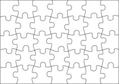 Puzzle template to create your own puzzles (more sizes on site)   # Pin++ for Pinterest #