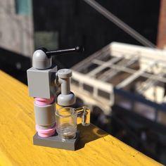 신통방통 커피머신! 어떻게 저렇게 만들수 있게 준비했을까? 이 아침에 나에게 작은 웃음을 준 #레고 고마워~ #lego#그랑씨엘#마이쏭#커피머신