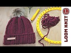 Newest Photographs loom knitting mittens Suggestions LOOM KNIT Hat Tutorial Easy Round Loom Knitting, Loom Knitting Stitches, Loom Knitting Projects, Easy Knitting, Knifty Knitter, Cross Stitches, Loom Knitting For Beginners, Sock Knitting, Knitting Tutorials