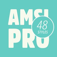 The Amsi Pro font family, a rounded sans serif typeface by Stawix Ruecha. The Amsi Pro font family by type designer Stawix Ruecha draws inspiration by the