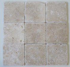 Travertin-Fliesen-Getrommelt-10x10-cm-Wandfliesen-Antik, 1m²: 47,90€