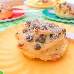 FRITTATINE DI PASTA AL FORNO in stampi da muffin