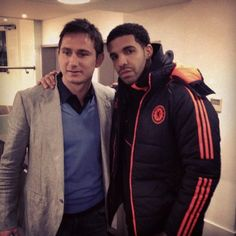 Drake with Frank Lampard Chelsea Football, Chelsea Fc, Soccer Stars, History Books, Chicago Bulls, Soccer Players, Hanging Out, Drake, Canada Goose Jackets