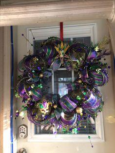 Mardi Gras Magic Wreath