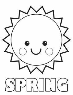 spring sun free printable coloring pages - Coloring Sheets For Preschool