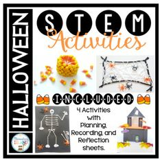 Halloween October STEM Engineering Challenges - Filled with 4 different activities for kids to challenge their thinking and build their STEM skills.  These projects will have first through fourth graders engaged, using easily available materials.