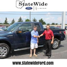 Dale Lewellen taking delivery of his Ford F-150 from Logan Rupert. Thank you for your business!