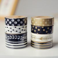 Creative 1.5cm paper tape,round stationery decoration tape,Adhesive Tape (tt-3410)