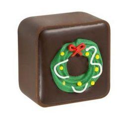A bulk box of Christmas Milk Chocolate Caramels.